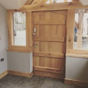 handmade oak door