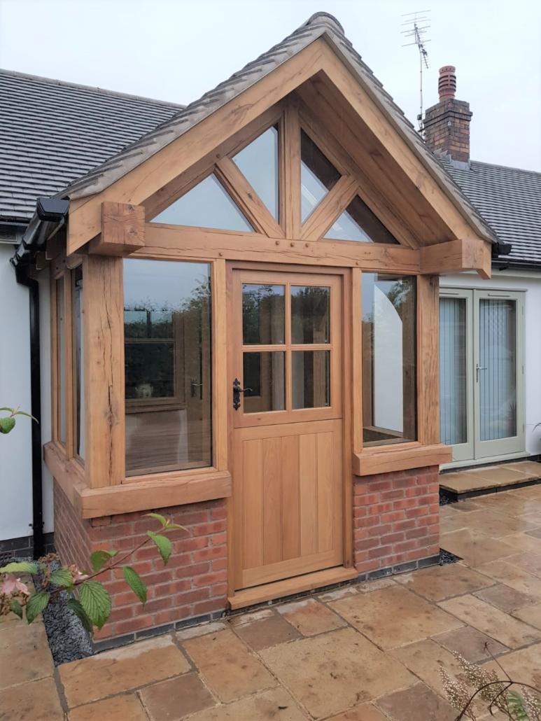enclosed oak porch cheshire
